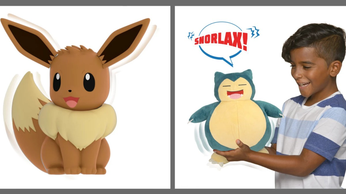 New Pokémon toys - My Partner Eevee and Snooze Action Snorlax