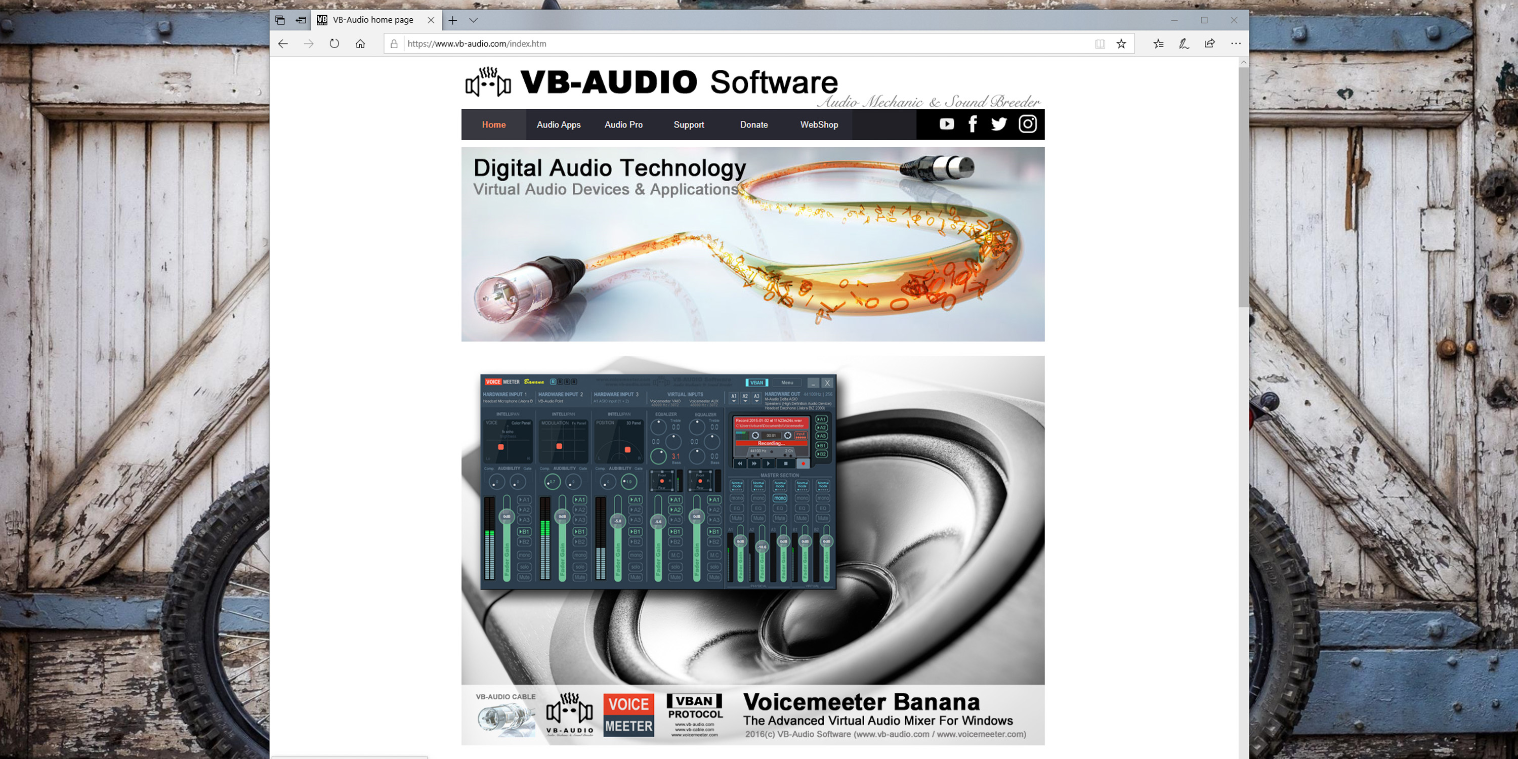 go to VB-Audio.com to download the software