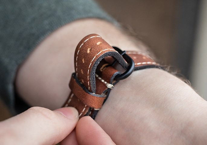 Lowry Leather Apple Watch Band clasp