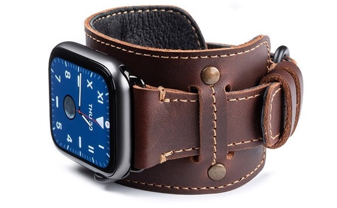 Leather cuff Apple watch band from Pad & Quill