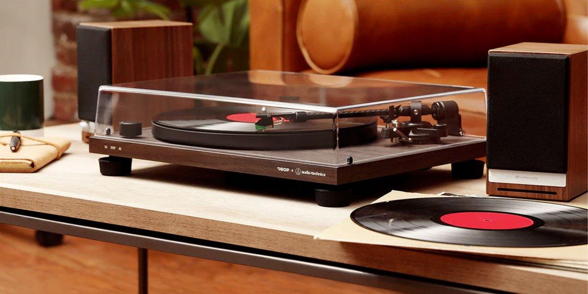 drop audio technica turntable