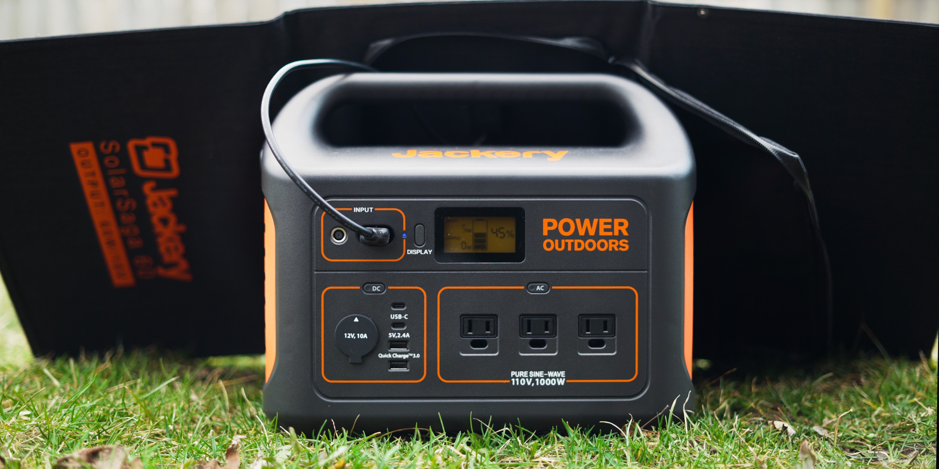 Charging the Explorer 1000 with a 60W Solar Saga panel