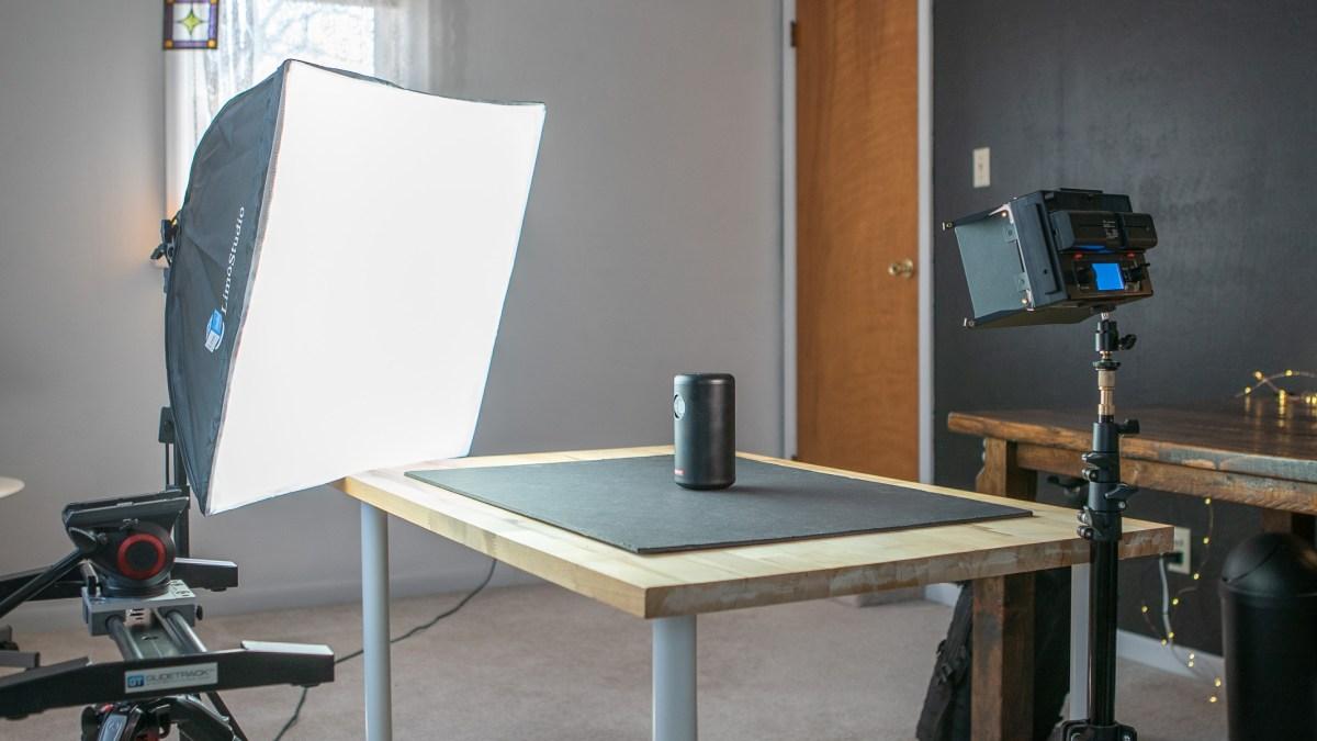 Jordan's studio lighting setup