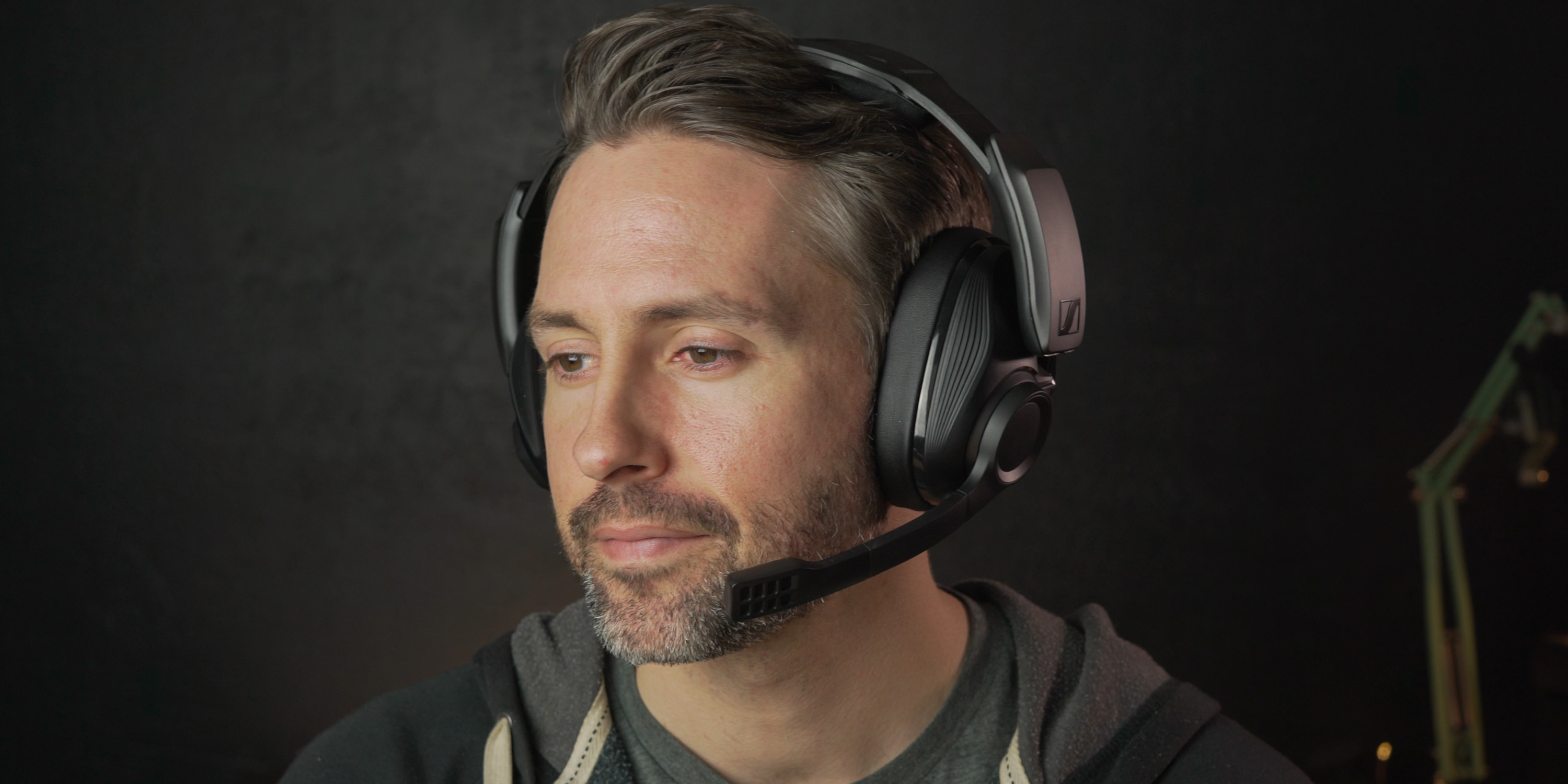 Wearing the Sennheiser GSP 670