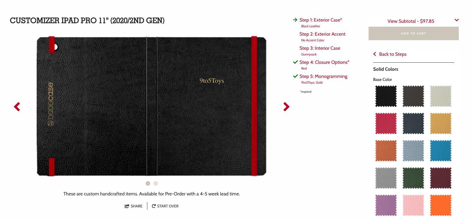 New DODOcase iPad Pro DODOMizer