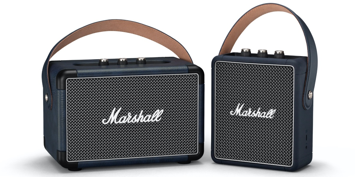 Marshall indigo speakers
