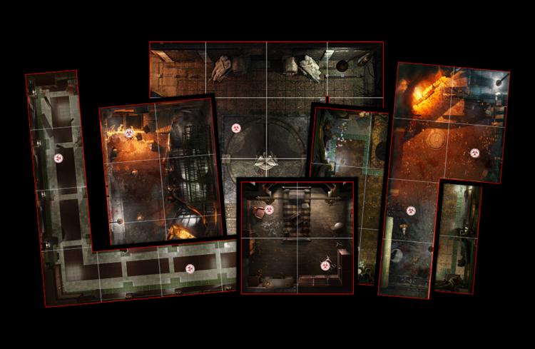 The Resident Evil 3 board game tiles