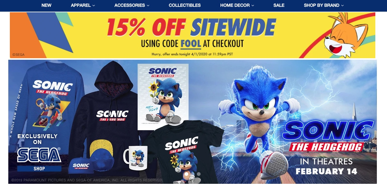 Sonic T Shirts Collectibles More 15 Off Today At Sega Shop 9to5toys
