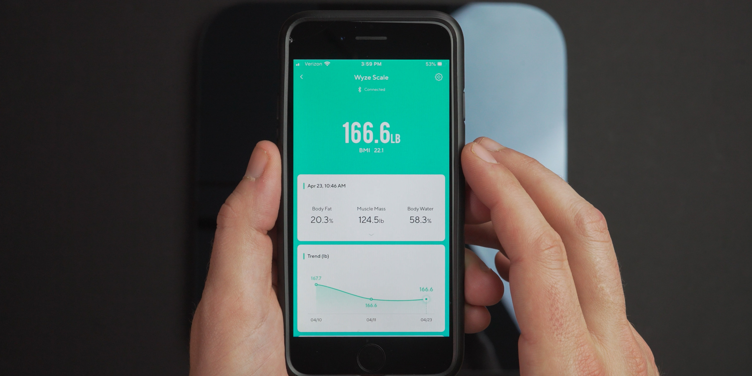 Checking stats in the Wyze App
