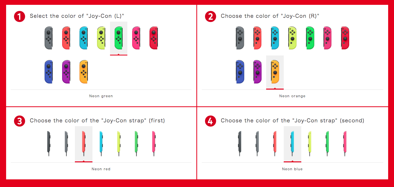 Build-your-own Switch with custom Joy-Con and straps