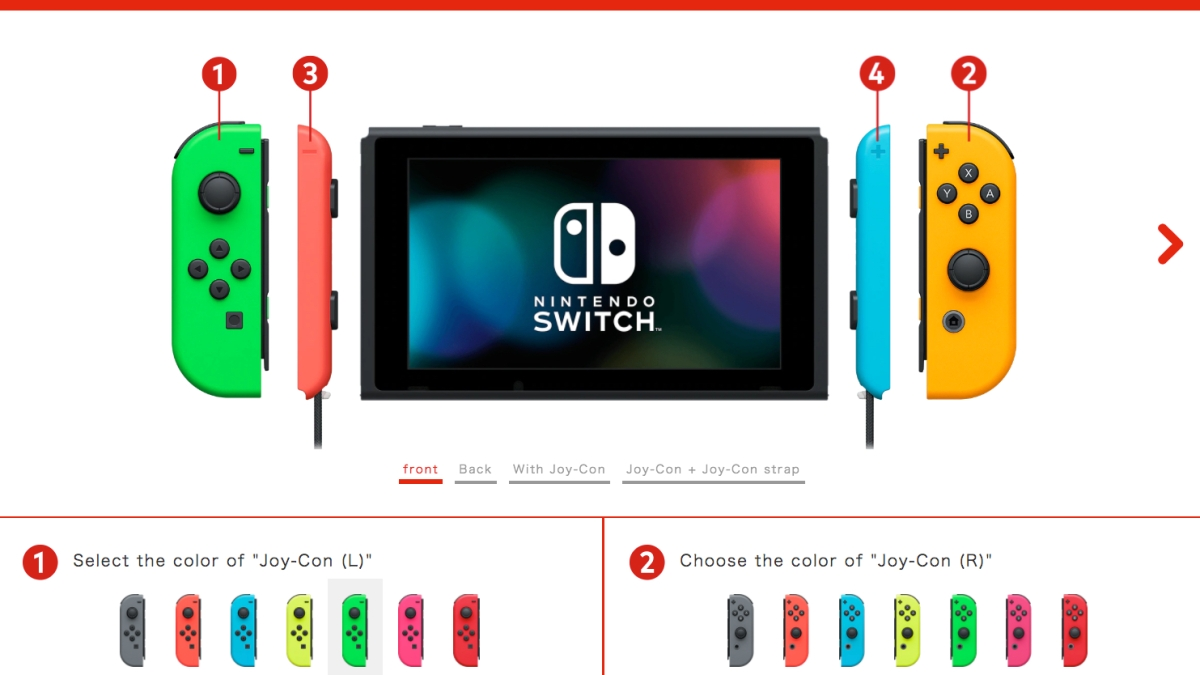 Build-your-own Switch with custom Joy-Con