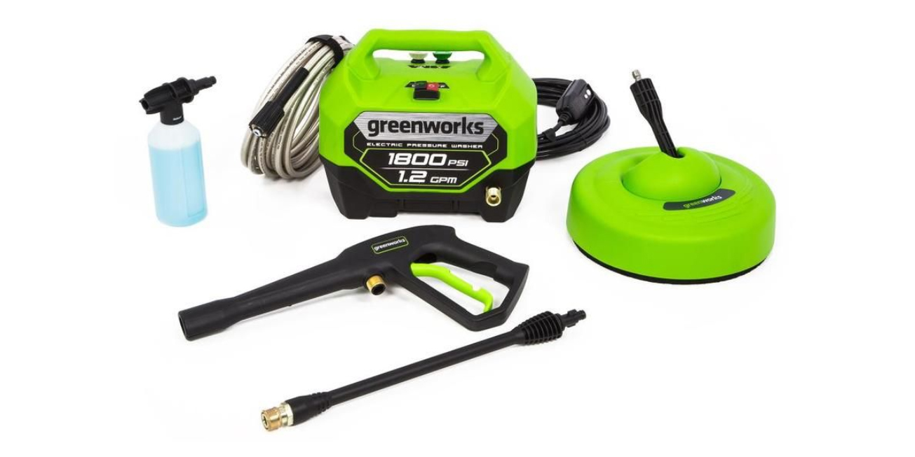 Tackle Winter Grime Greenworks 1800psi Electric Pressure Washer