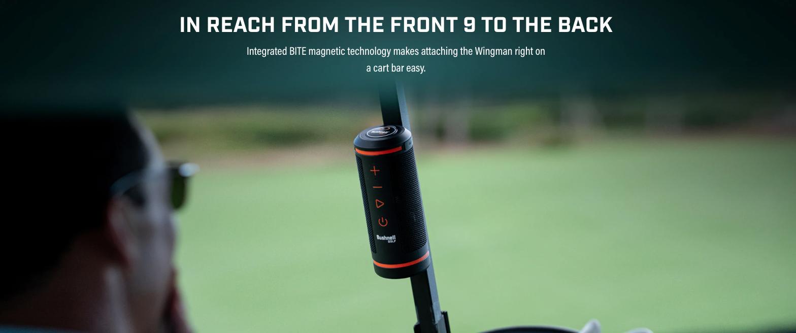 Bushnell Wingman golf speaker BITE