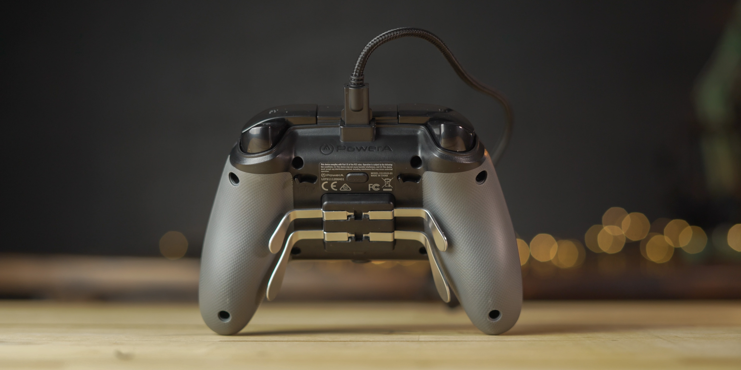 Back of the PowerA Fusion Pro controller