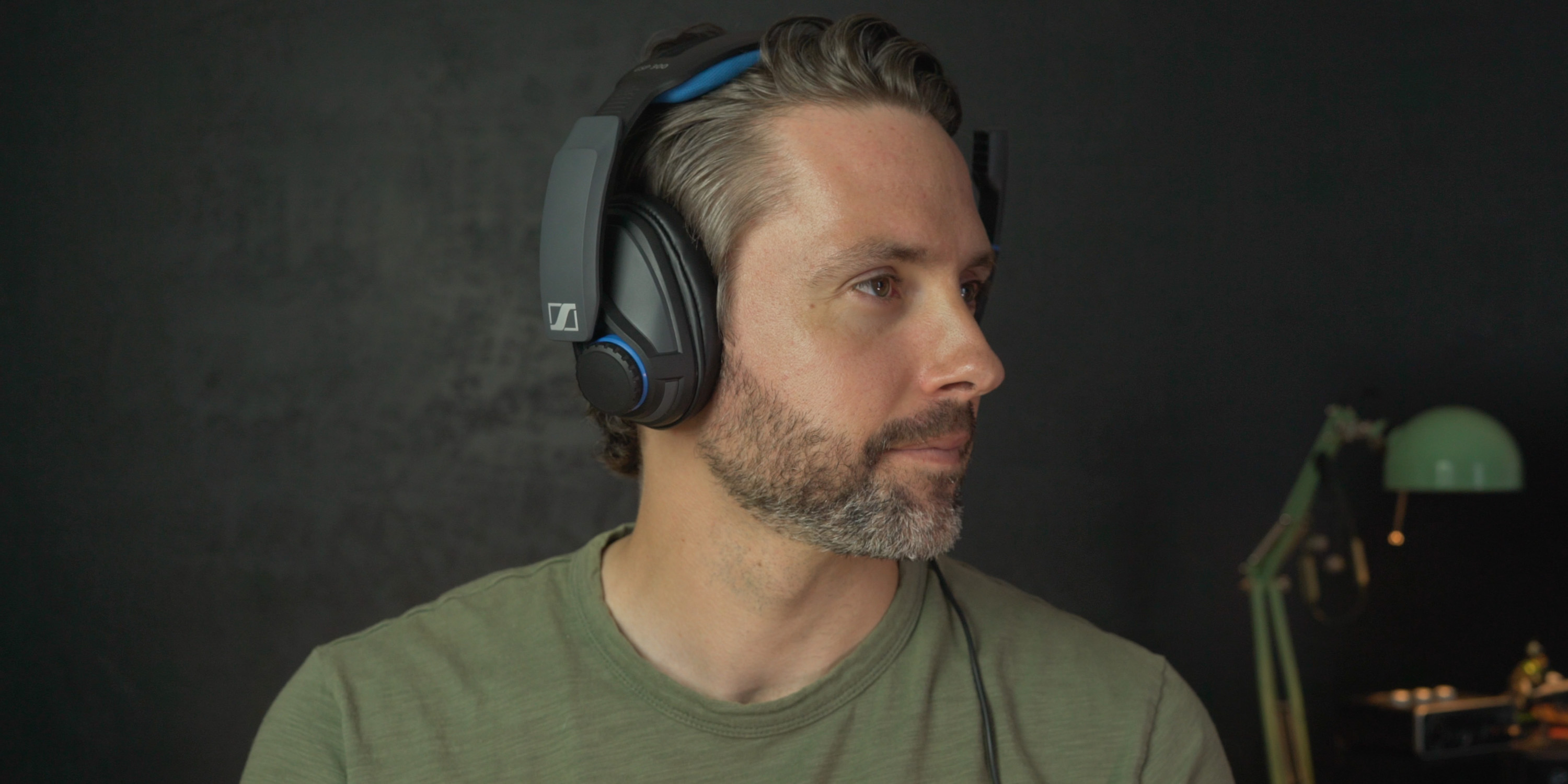 Wearing the GSP 300 gaming headset