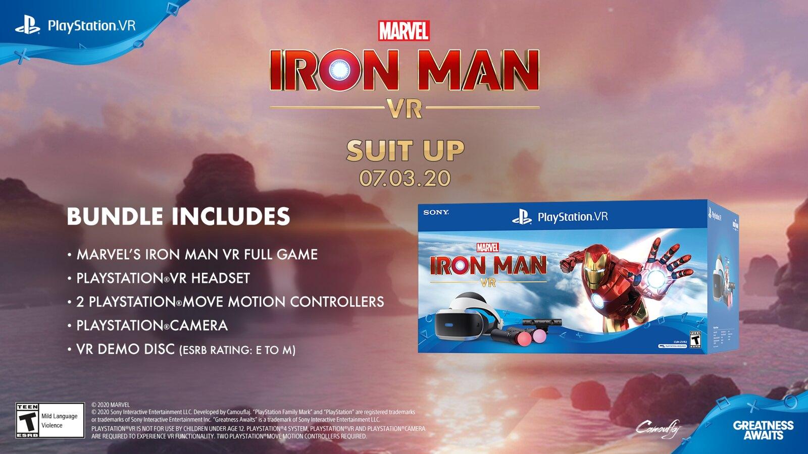 Marvel's Iron Man VR bundle + demo