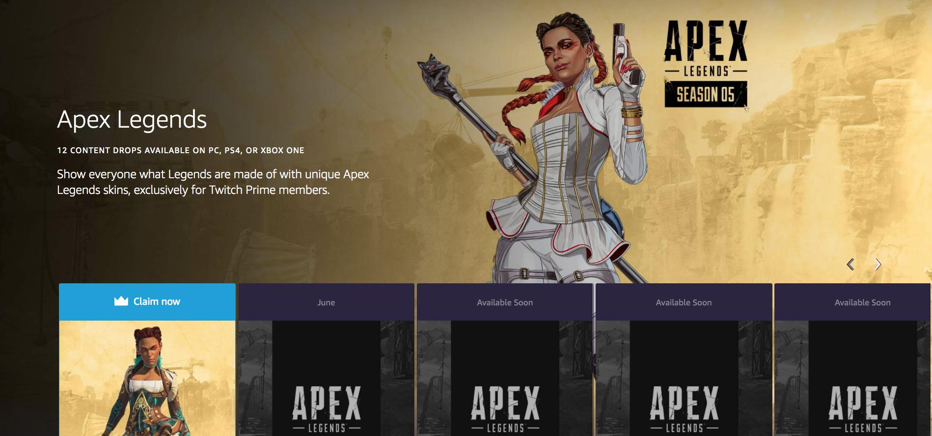 Free Apex Legends loot