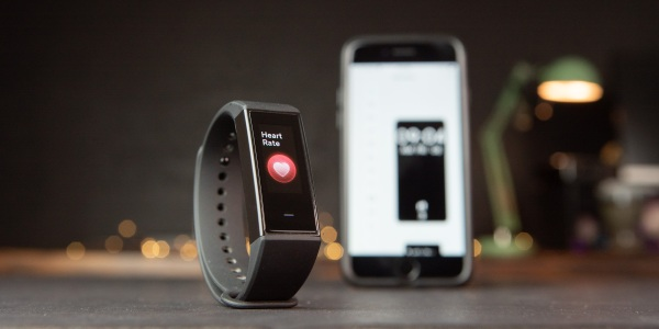 Wyze Band with Wyze app in the background