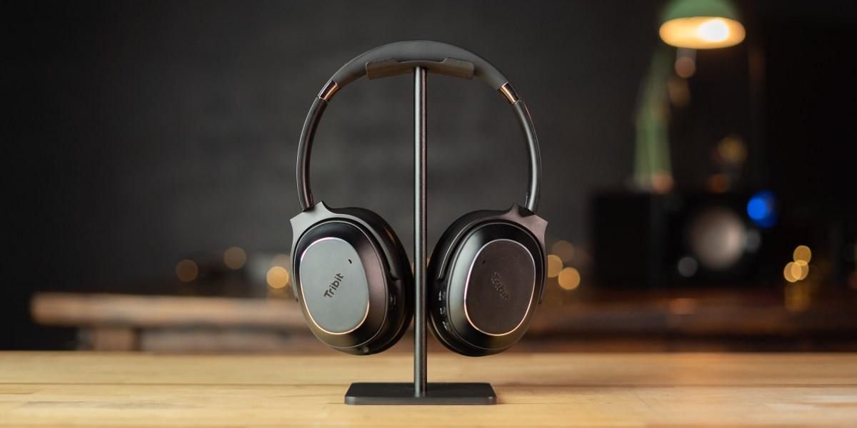 Tribit QuietPlus 72 headphones in protective case with accessories