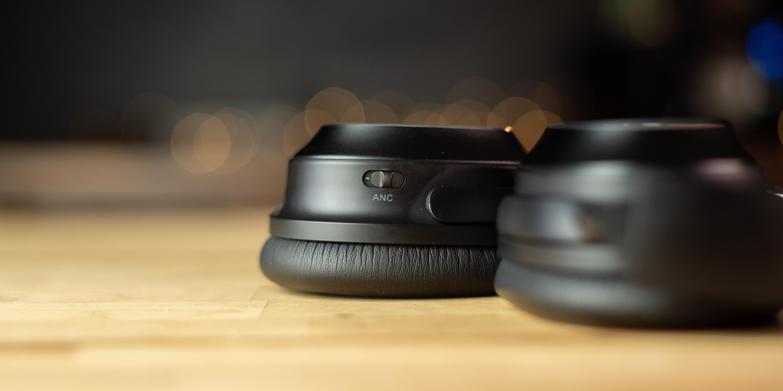 ANC toggle on the Tribit QuietPlus 72 headphones