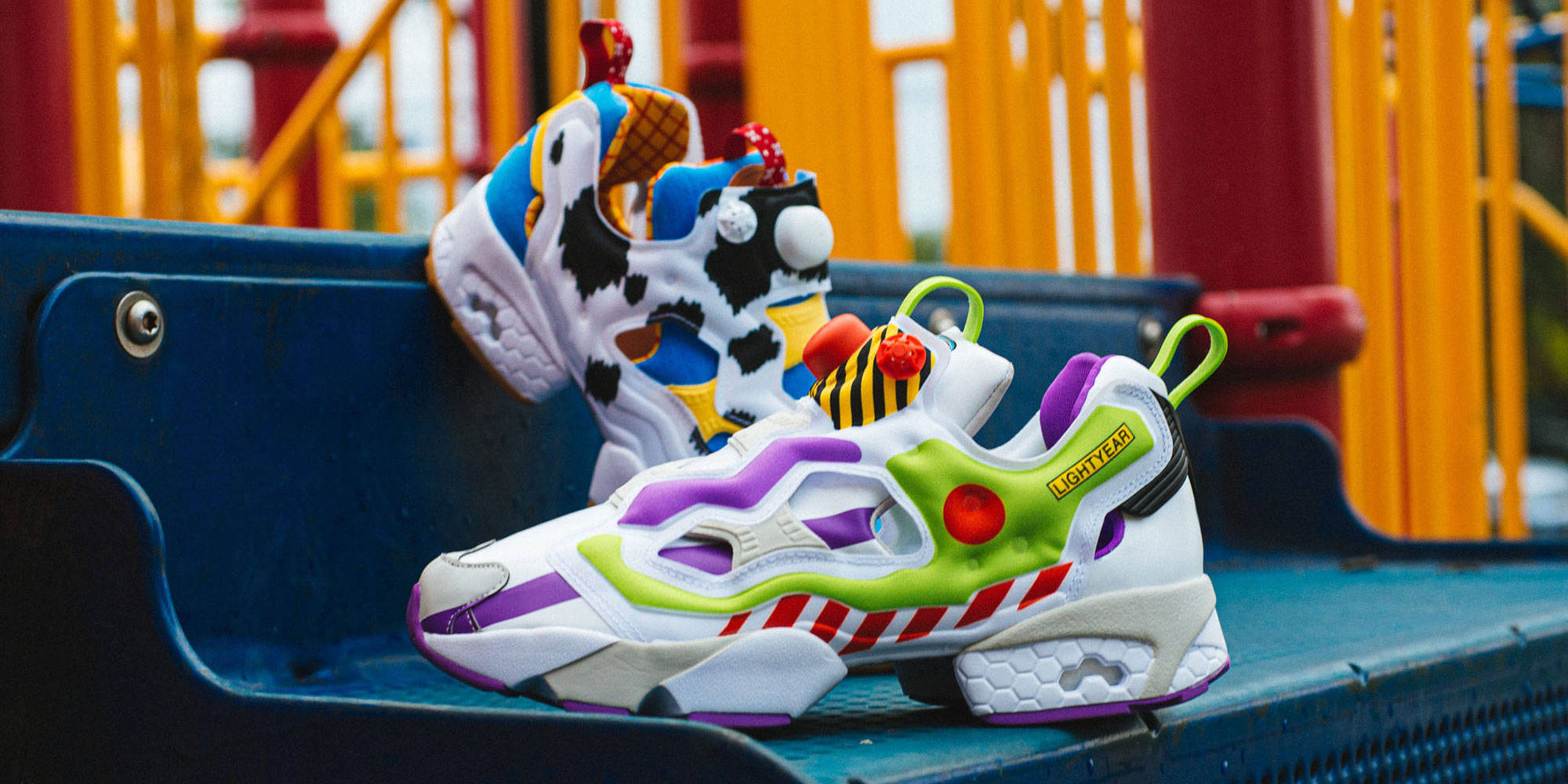 Toy Story Reebok sneakers put Woody and
