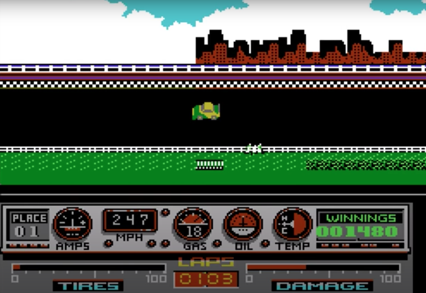 Unreleased Days of Thunder NES game