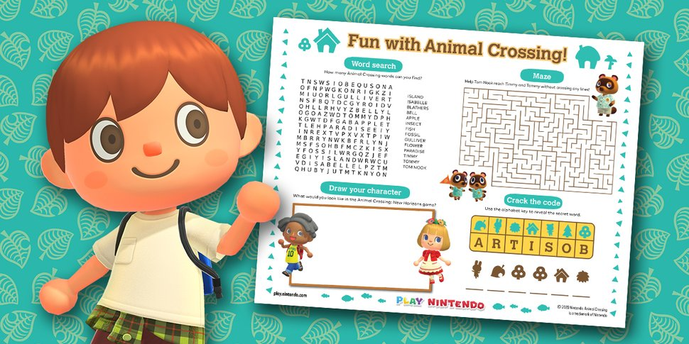Animal Crossing activity sheet