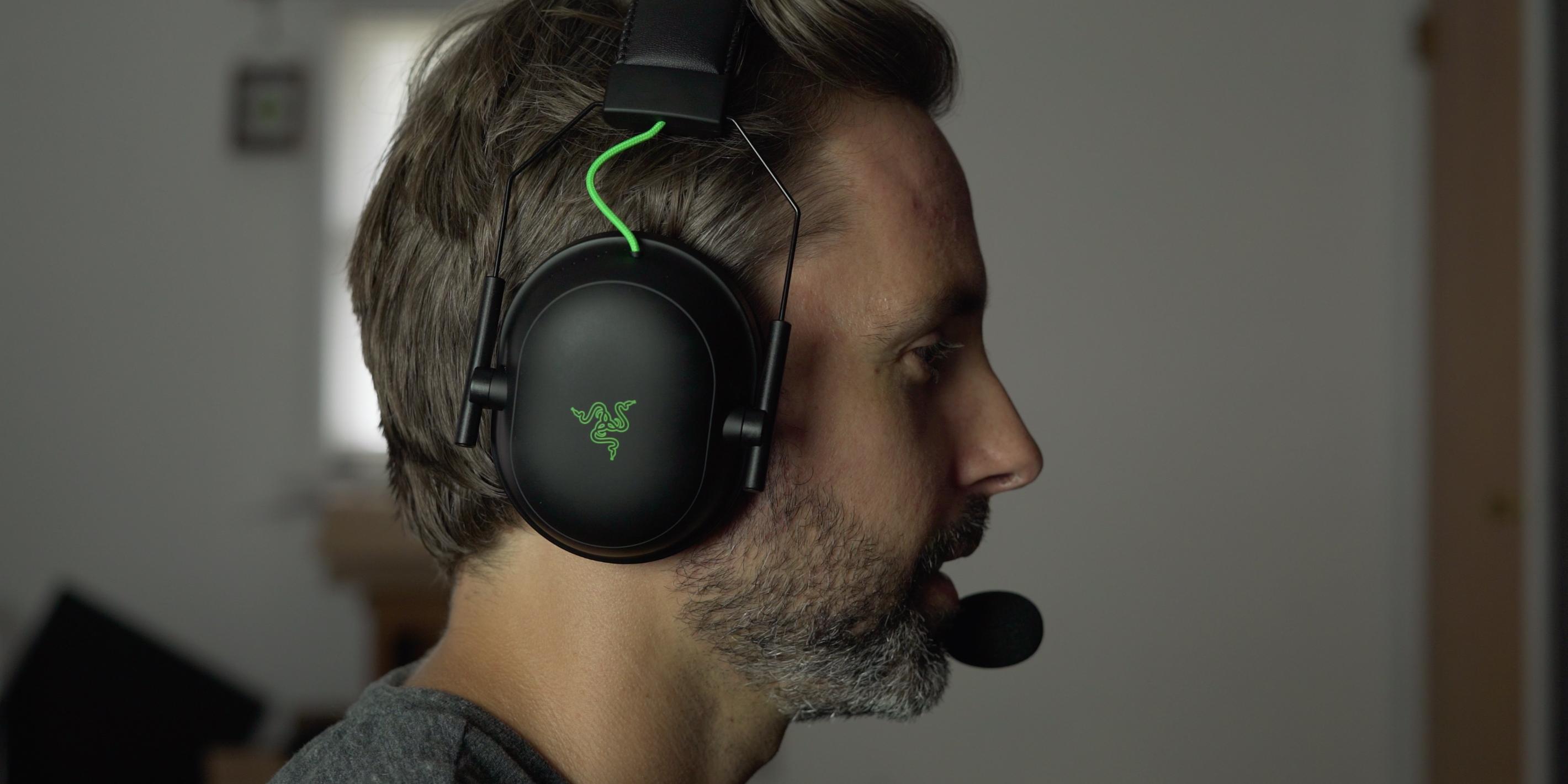 Listening to the Razer BlackShark V2 headset