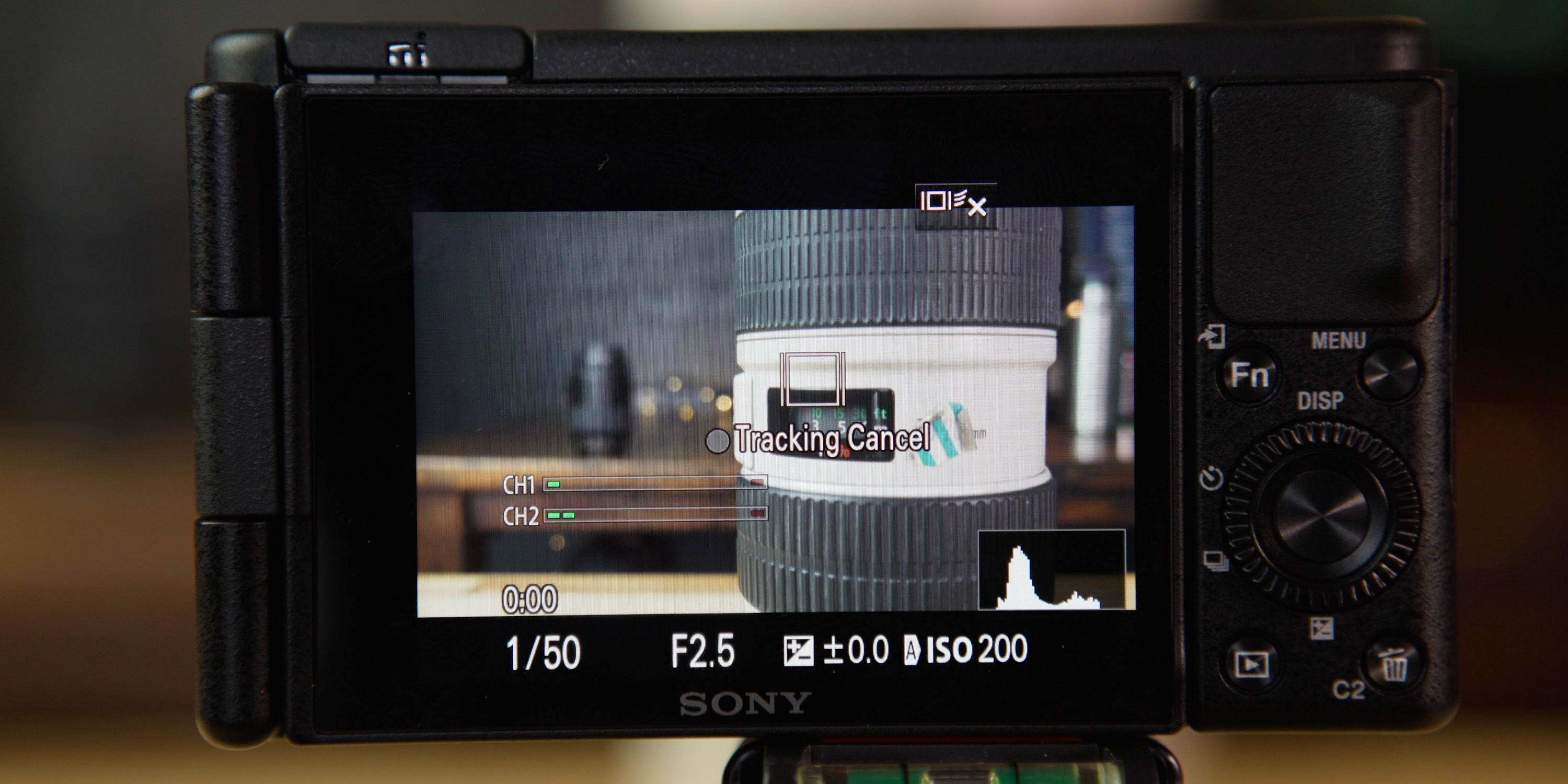 Using the touchscreen auto focus on the Sony ZV-1