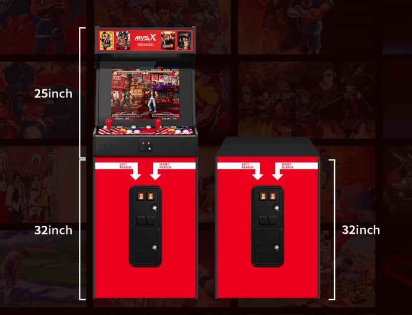 Neo Geo MVSX home arcade machine riser