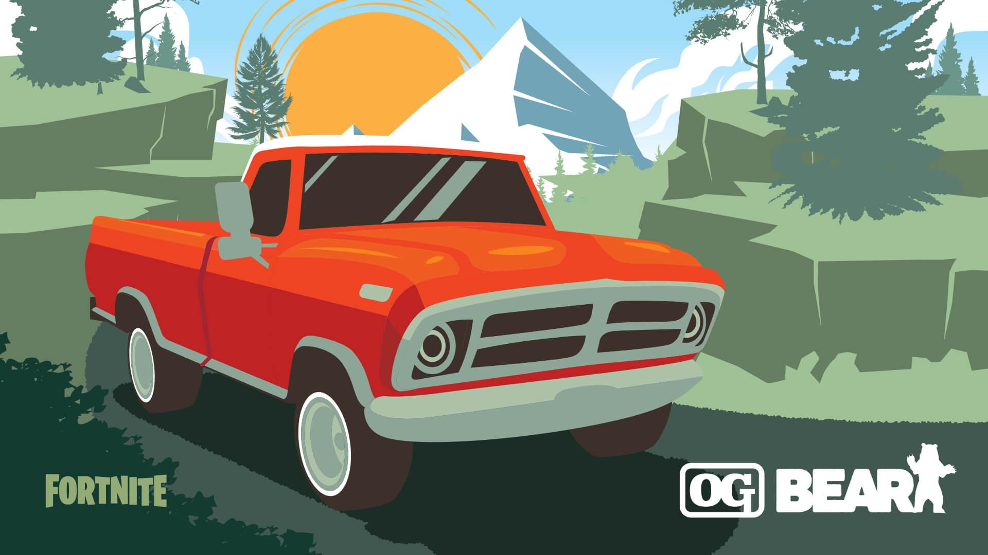 New cars for Fortnite pickup truck