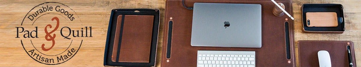 Leather desk accessories from Pad & Quill