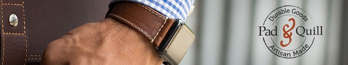Pad Quill leather Apple Watch bands