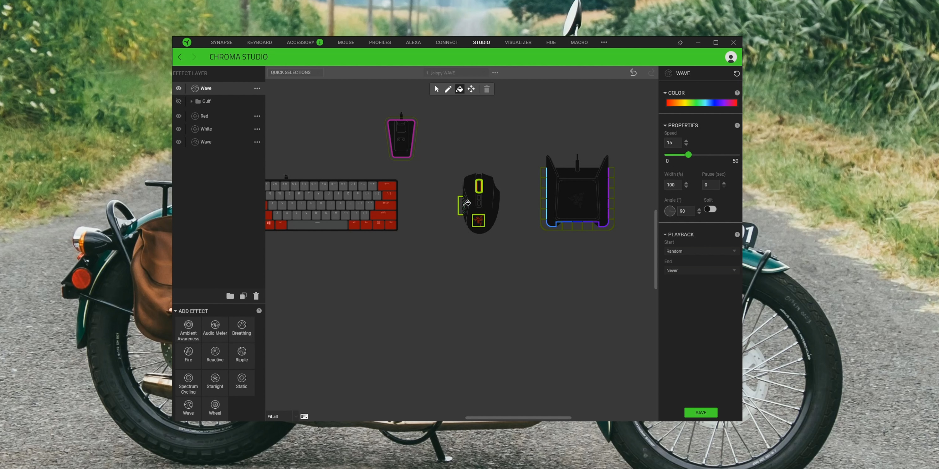 Customizing RGB in Razer Synapse