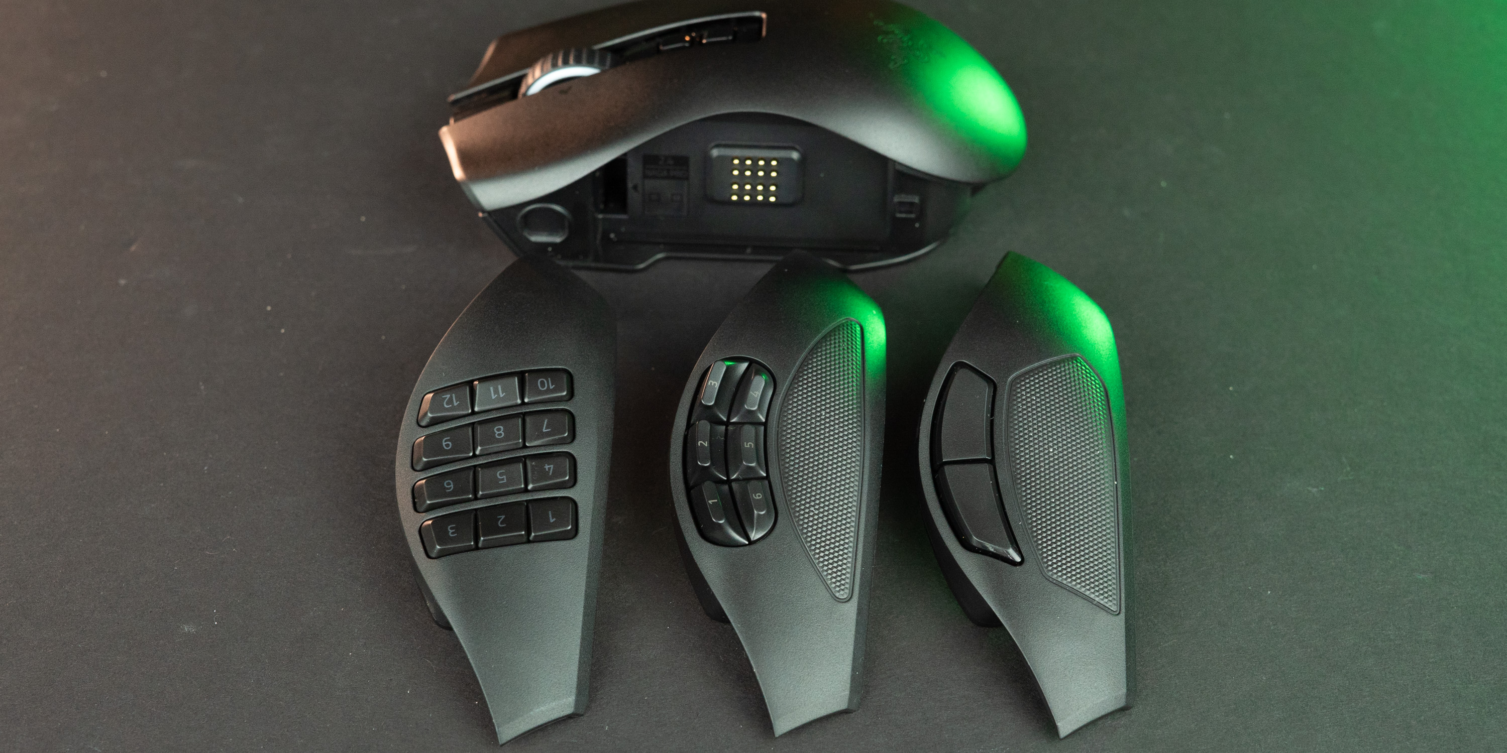 Swappable side plates on the Razer Naga Pro