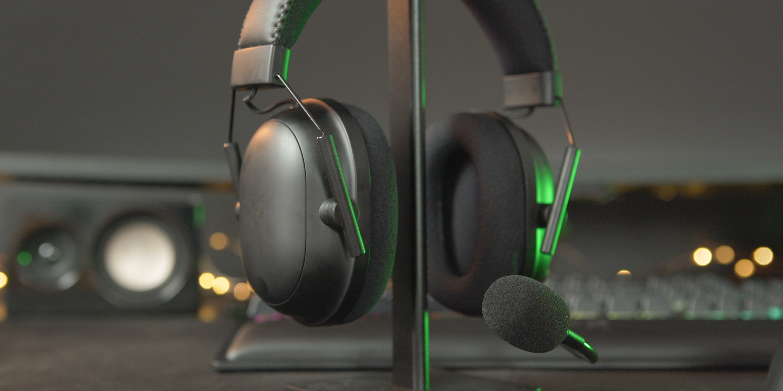 BlackShark V2 Pro on headphone stand