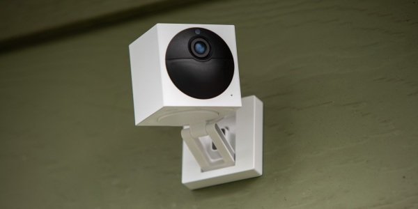 Wyze Cam Outdoor mounted on siding