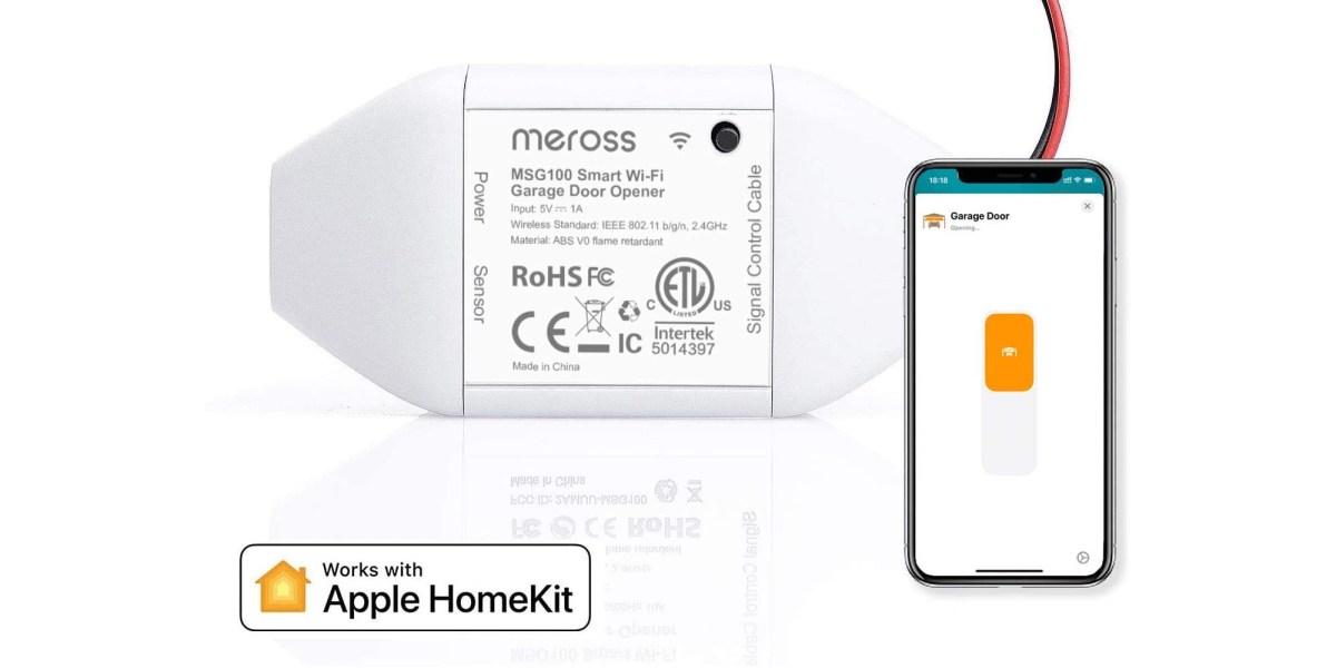 meross HomeKit Garage Opener