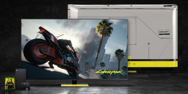 Samsung QLED Cyberpunk TV