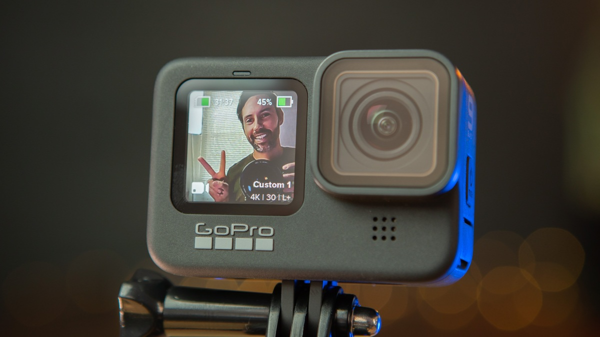 Front facing screen on the GoPro Hero9 Black