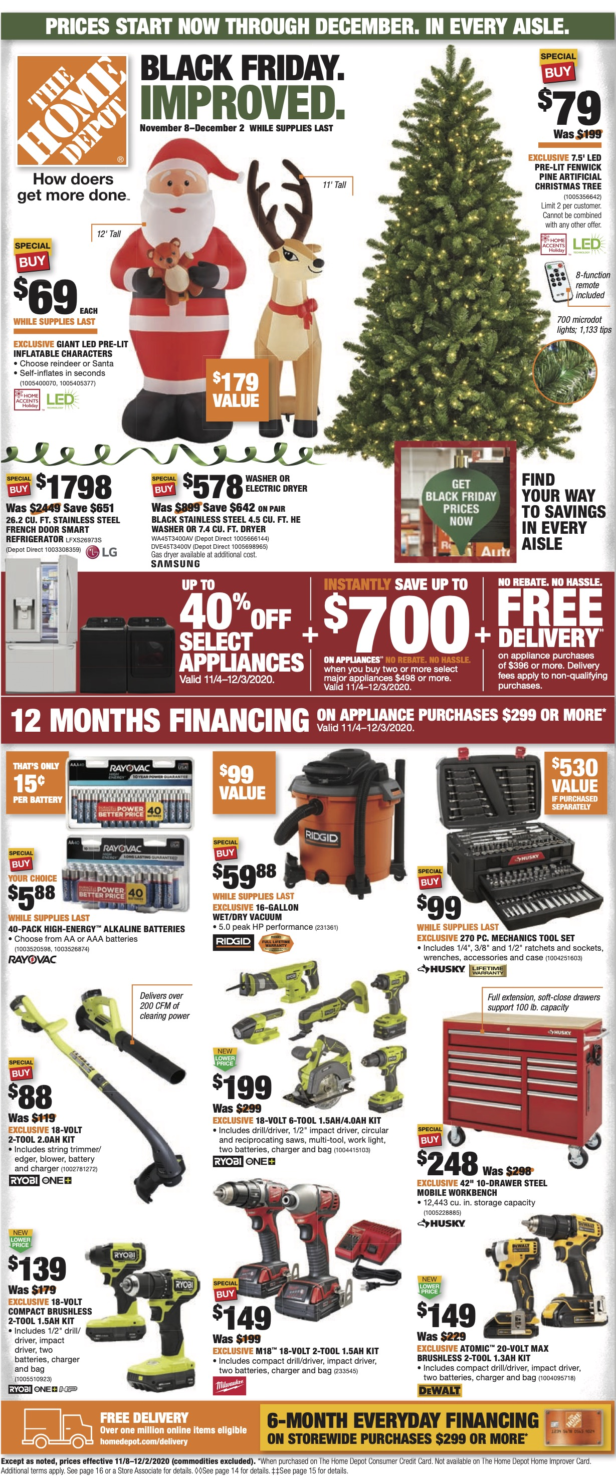 Home Depot Black Friday Improved 2020