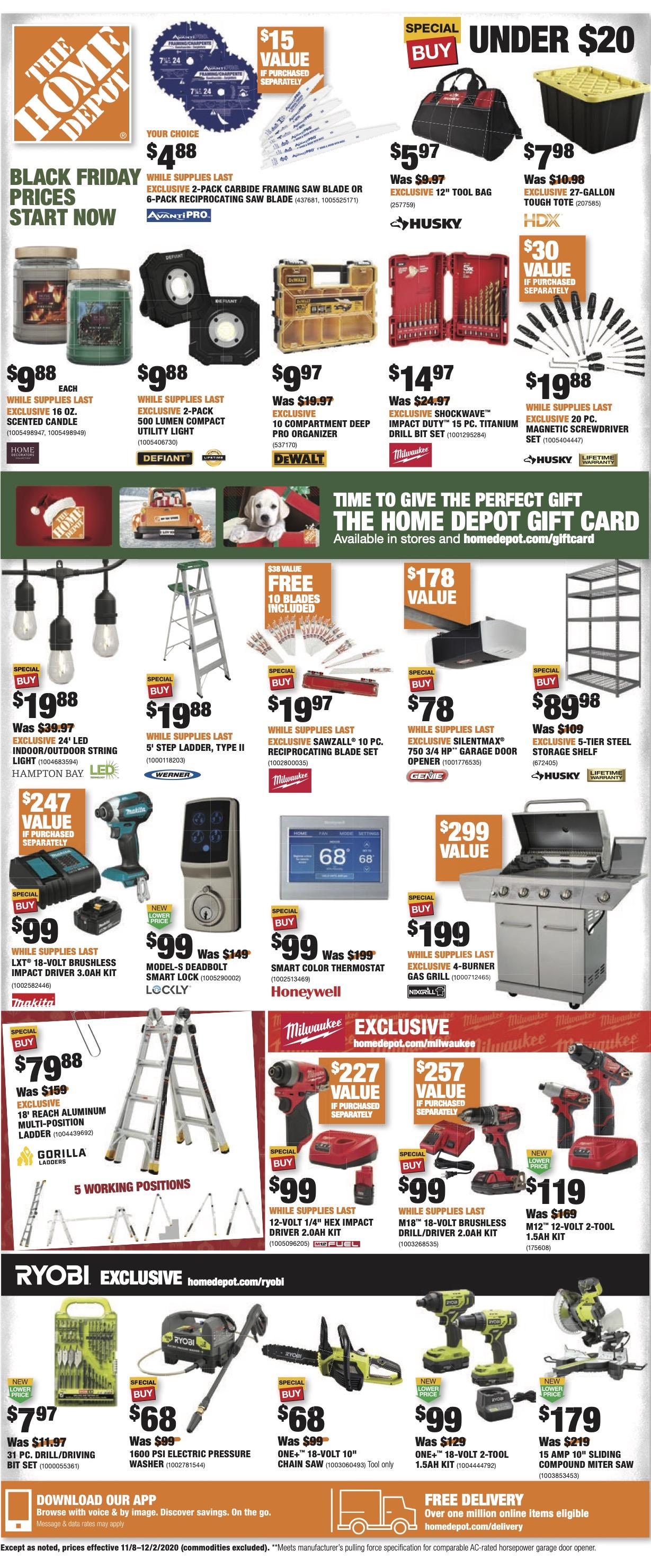 Home Depot Black Friday Improved Starts November 6 9to5toys