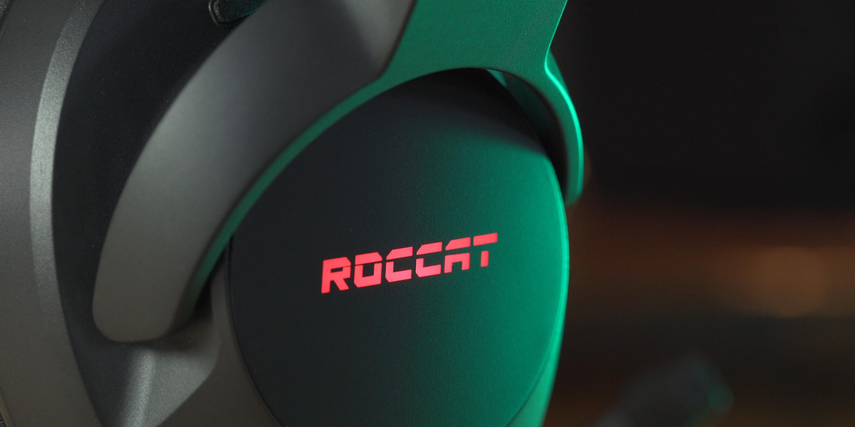 ROCCAT logo on headset