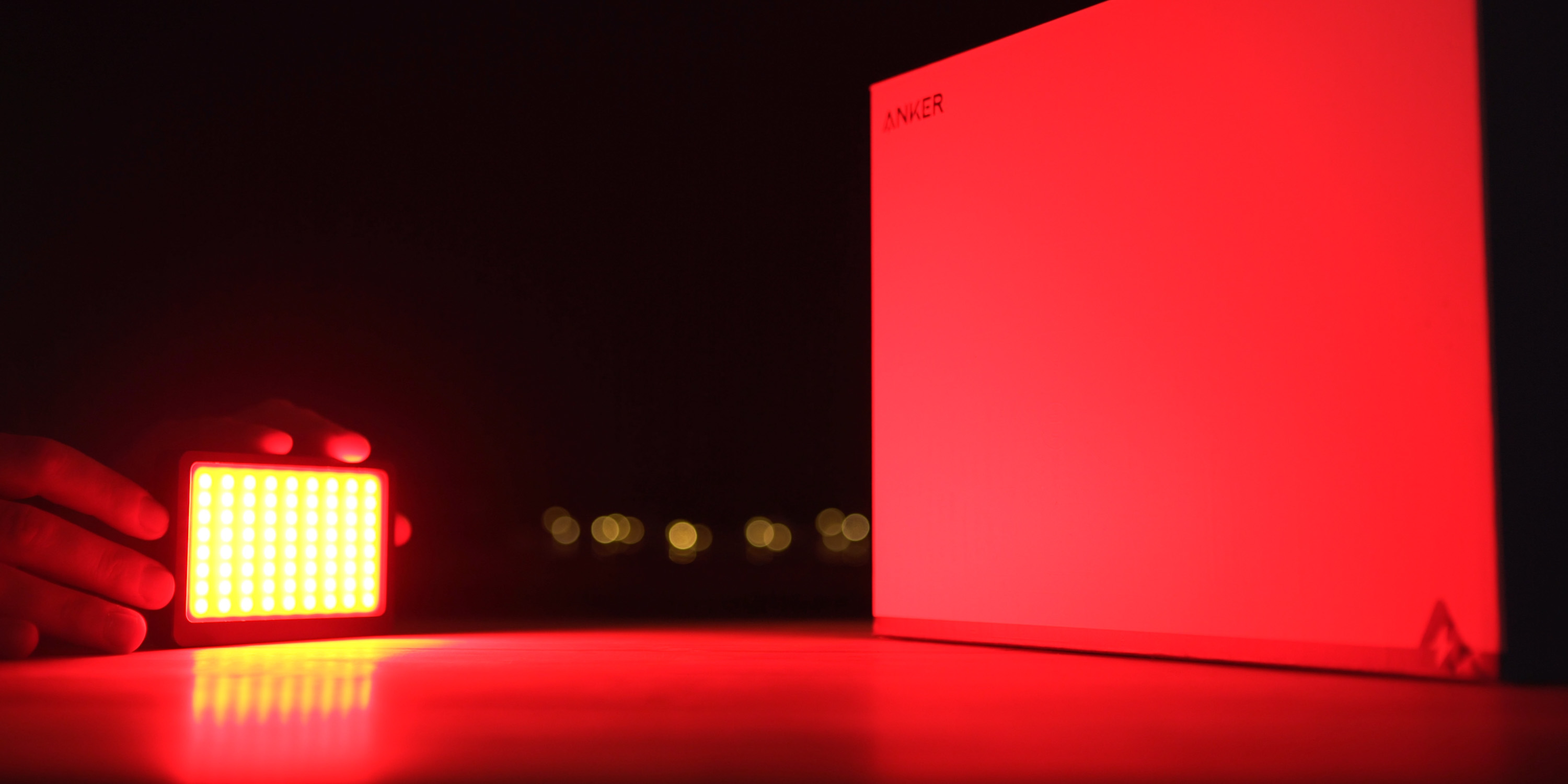 Using the Sandmarc Prolight RGB on the side of a product box