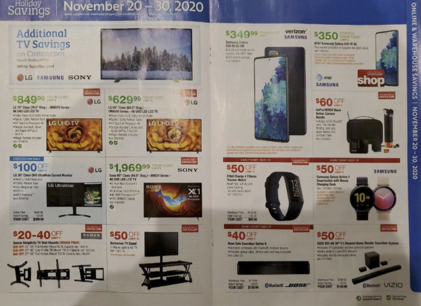 Costco Black Friday Ad 2020 Save On Apple Nest More 9to5toys