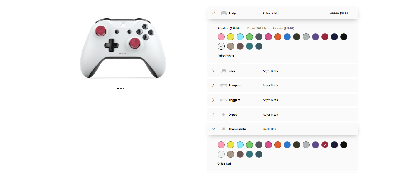 design your own Xbox controller