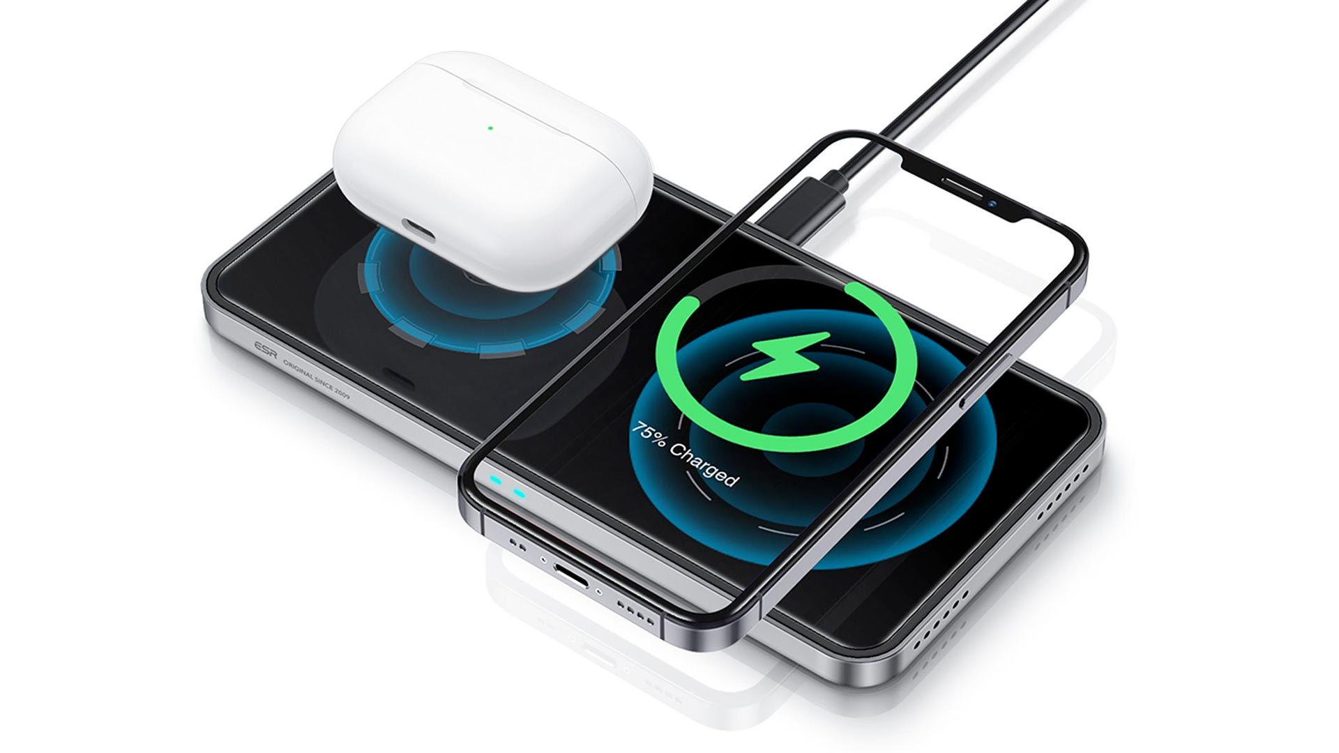 esr halolock 2-in-1 charger
