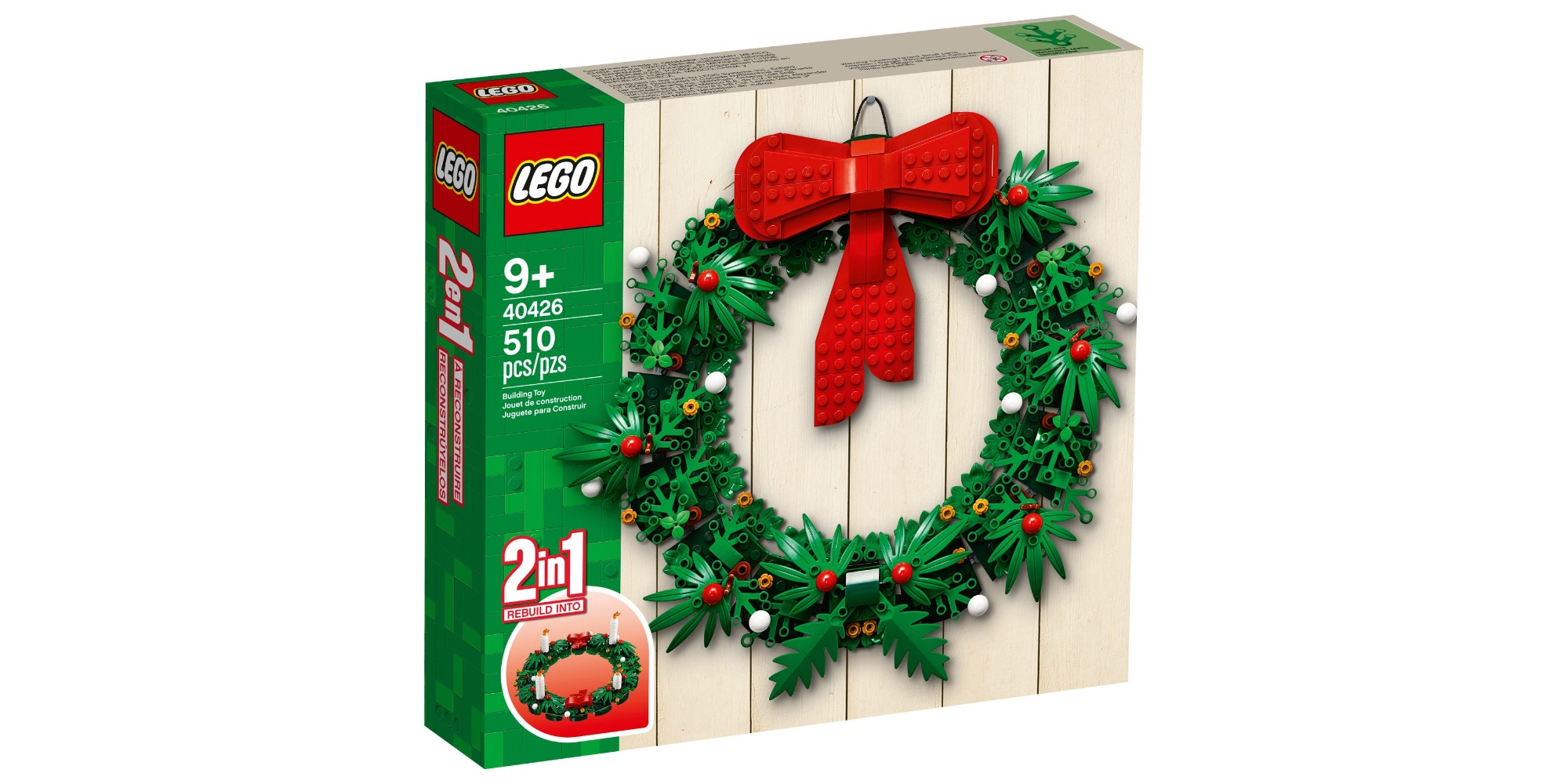 NEW decoration LEGO tree festive christmas WREATH custom