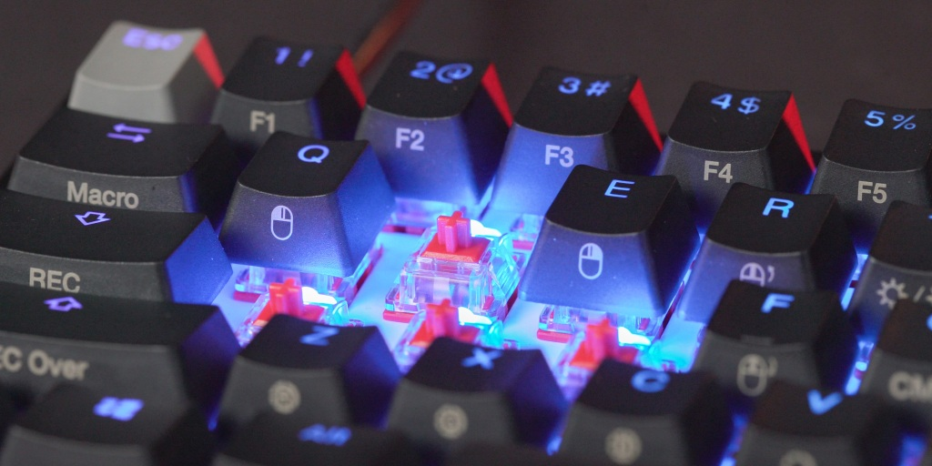 HyperX's red linear switches are fast and sound great on the HyperX Ducky One 2 Mini