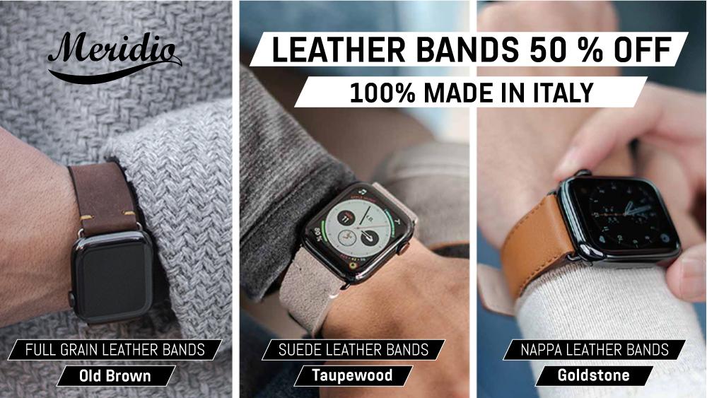Italian leather Apple Watch bands - Meridio